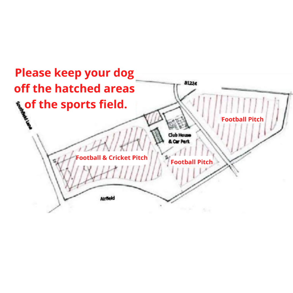 Please Keep Your Dog Off The Hatched Areas Of The Sports Field.